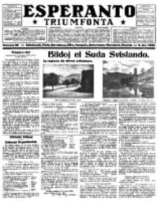 Esperanto Triumfonta : ǰurnalo internacia, universale, sendependa. 1922