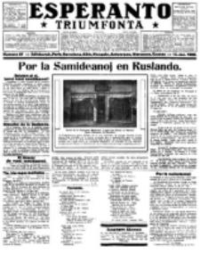 Esperanto Triumfonta : ǰurnalo internacia, universale, sendependa. 1922, no 67