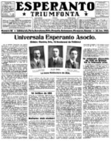 Esperanto Triumfonta : ǰurnalo internacia, universale, sendependa. 1922, no 68