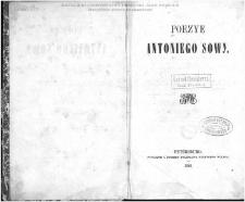 Poezye Antoniego Sowy.