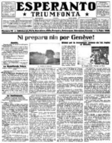 Esperanto Triumfonta : ǰurnalo internacia, universale, sendependa. 1922, no 70