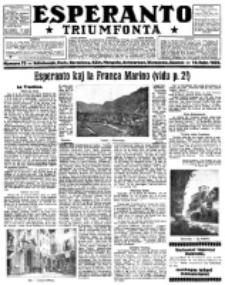Esperanto Triumfonta : ǰurnalo internacia, universale, sendependa. 1922, no 72
