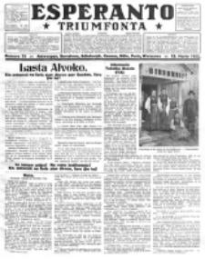 Esperanto Triumfonta : ǰurnalo internacia, universale, sendependa. 1922, no 75