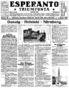 Esperanto Triumfonta : ǰurnalo internacia, universale, sendependa. 1922, no 79