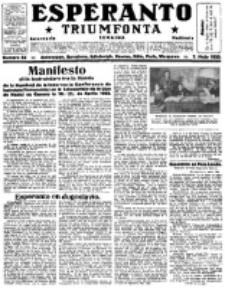 Esperanto Triumfonta : ǰurnalo internacia, universale, sendependa. 1922, no 83