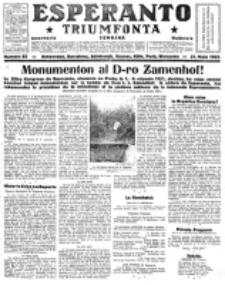 Esperanto Triumfonta : ǰurnalo internacia, universale, sendependa. 1922, no 85