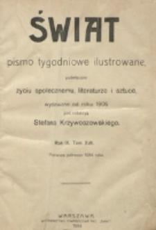 Spis rzeczy za połrocze 1-sze 1914 roku.