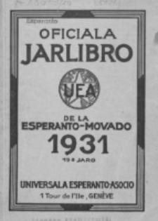 Oficiala Jarlibro. 1931