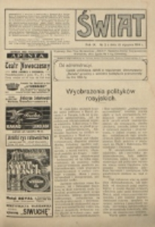 Świat : pismo tygodniowe ilustrowane poświęcone życiu społecznemu, literaturze i sztuce. R. 9 (1914), nr 2 (10 stycznia)