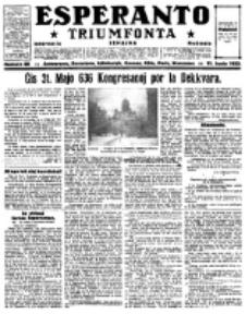 Esperanto Triumfonta : ǰurnalo internacia, universale, sendependa. 1922, no 88