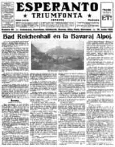 Esperanto Triumfonta : ǰurnalo internacia, universale, sendependa. 1922, no 89