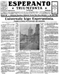 Esperanto Triumfonta : ǰurnalo internacia, universale, sendependa. 1922, no 90