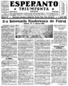 Esperanto Triumfonta : ǰurnalo internacia, universale, sendependa. 1922, no 91
