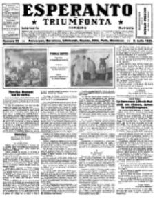 Esperanto Triumfonta : ǰurnalo internacia, universale, sendependa. 1922, no 92