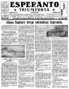 Esperanto Triumfonta : ǰurnalo internacia, universale, sendependa. 1922, no 93