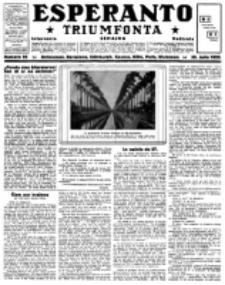 Esperanto Triumfonta : ǰurnalo internacia, universale, sendependa. 1922, no 95