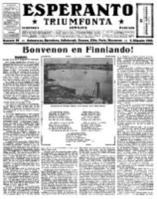 Esperanto Triumfonta : ǰurnalo internacia, universale, sendependa. 1922, no 96