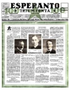 Esperanto Triumfonta : ǰurnalo internacia, universale, sendependa. 1922, no 100