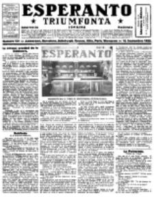 Esperanto Triumfonta : ǰurnalo internacia, universale, sendependa. 1922, no 101