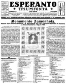 Esperanto Triumfonta : ǰurnalo internacia, universale, sendependa. 1922, no 103
