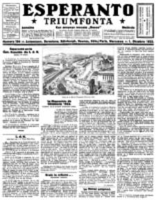 Esperanto Triumfonta : ǰurnalo internacia, universale, sendependa. 1922, no 104