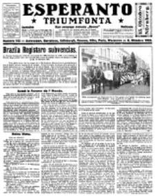 Esperanto Triumfonta : ǰurnalo internacia, universale, sendependa. 1922, no 105