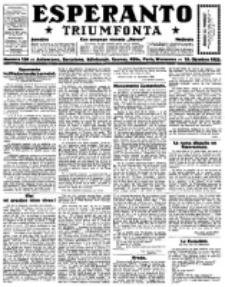 Esperanto Triumfonta : ǰurnalo internacia, universale, sendependa. 1922, no 106
