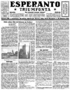 Esperanto Triumfonta : ǰurnalo internacia, universale, sendependa. 1922, no 108