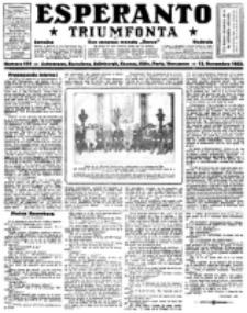 Esperanto Triumfonta : ǰurnalo internacia, universale, sendependa. 1922, no 110