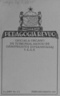 Internacia Pedagogia Revuo : oficiala organo de Tutmonda Asocio de Geinstruistoj Esperantistaj (TAGE). Jaro 6, n-o 2/3 (Februaro-Marto 1927)