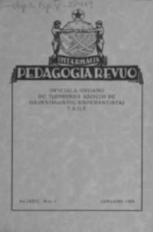 Internacia Pedagogia Revuo : oficiala organo de Tutmonda Asocio de Geinstruistoj Esperantistaj (TAGE). Jaro 8, n-o 1 (Januaro 1929)
