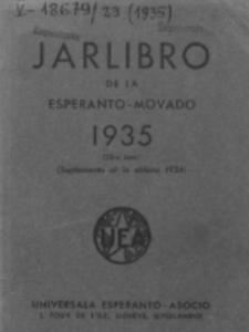 Oficiala Jarlibro. 1935