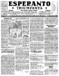 Esperanto Triumfonta : ǰurnalo internacia, universale, sendependa. 1922, no 111