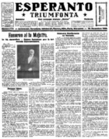 Esperanto Triumfonta : ǰurnalo internacia, universale, sendependa. 1922, no 114