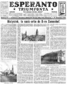 Esperanto Triumfonta : ǰurnalo internacia, universale, sendependa. 1922, no 115