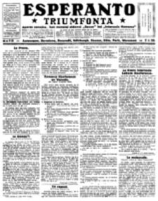 Esperanto Triumfonta : ǰurnalo internacia, universale, sendependa. 1923, no 118