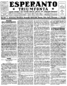 Esperanto Triumfonta : ǰurnalo internacia, universale, sendependa. 1923, no 124