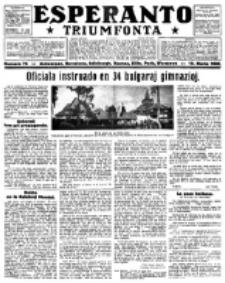 Esperanto Triumfonta : ǰurnalo internacia, universale, sendependa. 1922, no 76