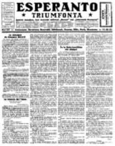 Esperanto Triumfonta : ǰurnalo internacia, universale, sendependa. 1923, no 127