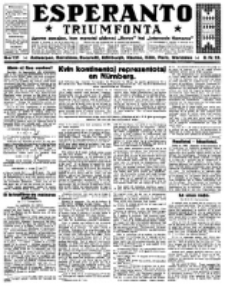 Esperanto Triumfonta : ǰurnalo internacia, universale, sendependa. 1923, no 131