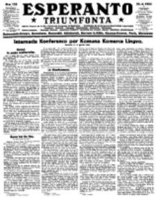 Esperanto Triumfonta : ǰurnalo internacia, universale, sendependa. 1923, no 133