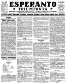 Esperanto Triumfonta : ǰurnalo internacia, universale, sendependa. 1923, no 138