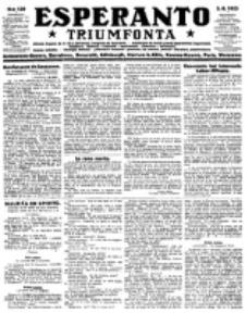 Esperanto Triumfonta : ǰurnalo internacia, universale, sendependa. 1923, no 139
