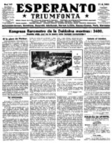 Esperanto Triumfonta : ǰurnalo internacia, universale, sendependa. 1923, no 141