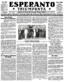 Esperanto Triumfonta : ǰurnalo internacia, universale, sendependa. 1923, no 142