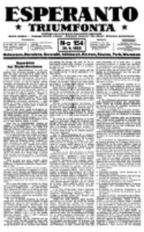 Esperanto Triumfonta : ǰurnalo internacia, universale, sendependa. 1923, no 154