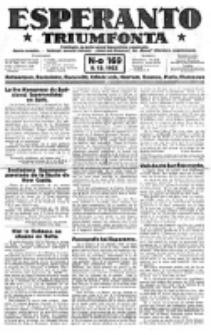 Esperanto Triumfonta : ǰurnalo internacia, universale, sendependa. 1923, no 169