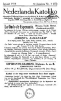 Nederlanda Katoliko. Jg. 4, no. 1 (Januari 1913)