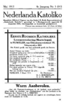 Nederlanda Katoliko. Jg. 4, no. 5 (Mei 1913)