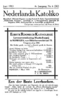 Nederlanda Katoliko. Jg. 4, no. 6 (Juni 1913)